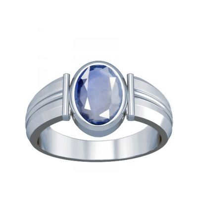 African Blue Sapphire Sterling Silver Ring - K8