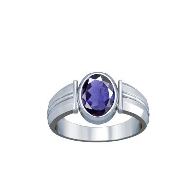 Natural Iolite Sterling Silver Ring - K9