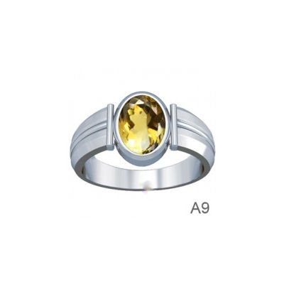 Natural Citrine Sterling Silver Ring - K9