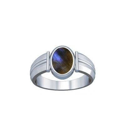 Natural Labradorite Sterling Silver Ring - K9
