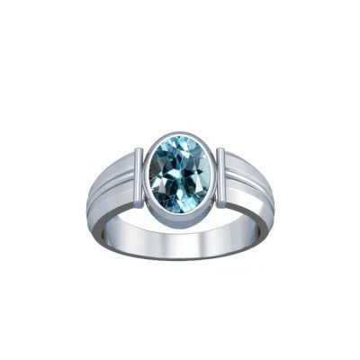 Blue Topaz Sterling Silver Ring - K9