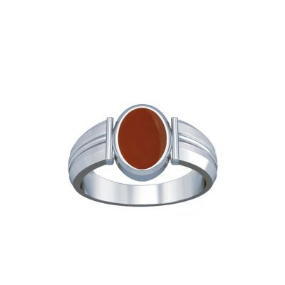 Natural Carnelian Sterling Silver Ring - K9
