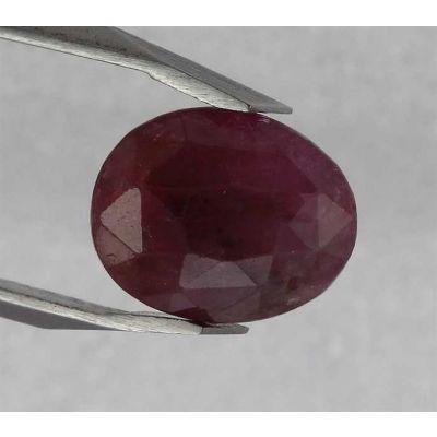 4.20 Carats Pinkish Red Sapphire 9.80 x 8.00 x 5.45 mm