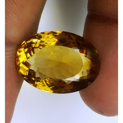 14.24 Carats Natural Yellow Citrine 18.72 x 14.00 x 9.14 mm