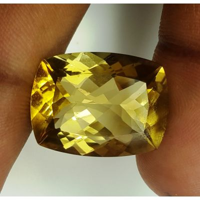 17.33 Carats Natural Yellow Citrine 19.86 x 15.10 x 9.45 mm