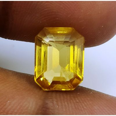 4.22 Carats Natural Yellow Citrine 11.22 x 8.87 x 5.73 mm