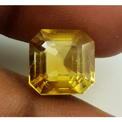 6.79 Carats Natural Yellow Citrine 10.62 x 10.55 x 8.61 mm