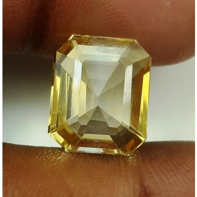 7.78 Carats Natural Yellow Citrine 13.27 x 11.11 x 6.88 mm