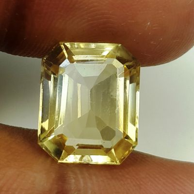 6.84 Carats Natural Yellow Citrine 12.97 x 10.62 x6.87 mm