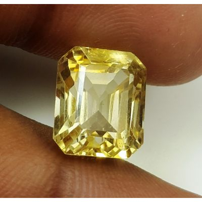 7.32 Carats Natural Yellow Citrine 11.65 x 9.67 x 8.68 mm