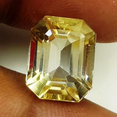 7.10 Carats Natural Yellow Citrine 12.41 x 9.99 x 8.02 mm
