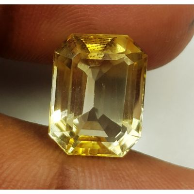 7.31 Carats Natural Yellow Citrine 13.63 x 10.43 x 7.80 mm
