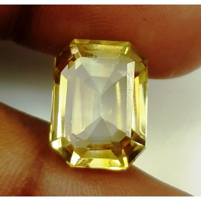 7.66 Carats Natural Yellow Citrine 13.32 x10.83 x 7.13 mm