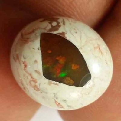 10.81 Carats Natural Mexicon Opal 16.02 x 14.52 x 7.23 mm