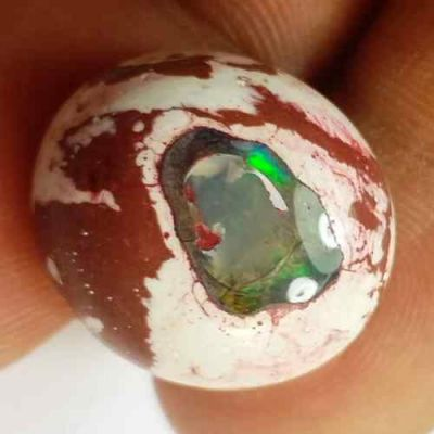 14.33 Carats Natural Mexicon Opal 18.42 x 16.42 x 7.41 mm