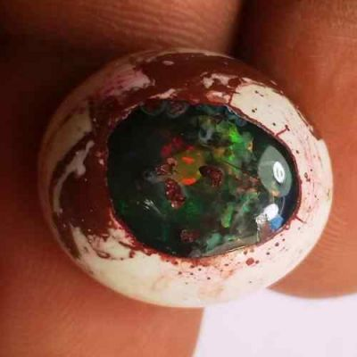 13.45 Carats Natural Mexicon Opal 17.63 x 16.03 x 7.43 mm