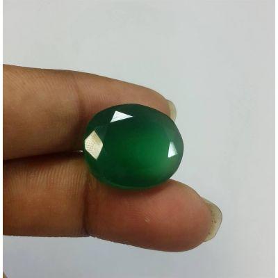 10.28 Carats Green Onyx 15.29 x 13.69 x 5.85 mm