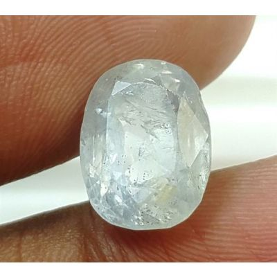 6.06 Carats Natural White Sapphire 11.41x8.54x6.00mm