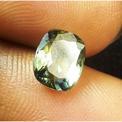 2.13 Carat Natural Ocean Green Blue Sapphire 7.84 x 6.81 x 3.86  mm