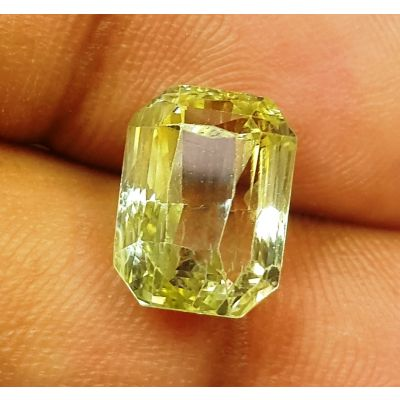 7.00 Carats Natural Olive Sapphire 11.13x8.37x7.18 mm