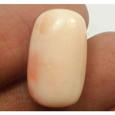 15.72 Carats Japanish Coral 19.75 x 12.36 x 7.90 mm