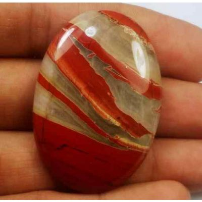 53.77 Carats Red River Jasper 4.25 X 27.91 X 6.25 mm