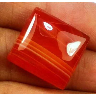 20.12 Carats Banded Agate 18.16 X 16.99 X 6.30 mm