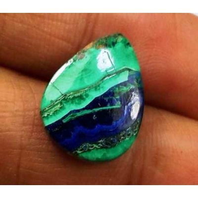 7.24 Carats Azurite Malachite 15.98 X 12.15 X 3.75 mm