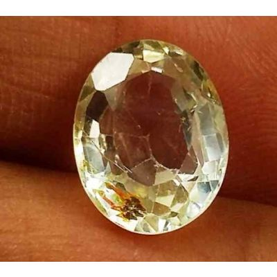 3.73 Carats Yellow Topaz 10.53 X 8.24 X 5.70 mm