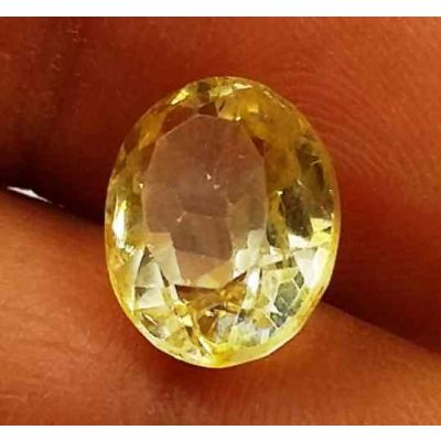 3.21 Carats Yellow Topaz 9.64 X 7.63 X 5.13 mm