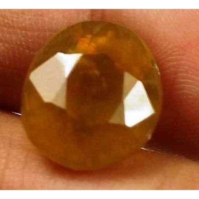 12.70 Carats African Padparadscha Sapphire 12.92 X 11.17 X 9.89 mm