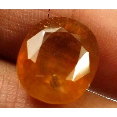 10.52 Carats African Padparadscha Sapphire 12.63 X 10.91 X 7.43 mm
