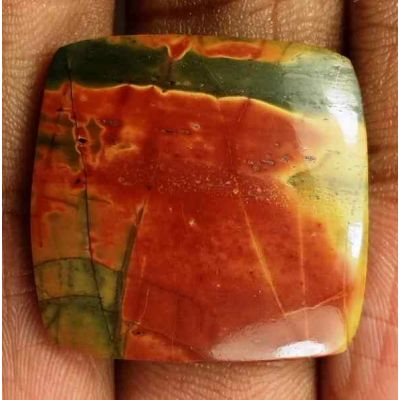18.90 Carats Cherry Creek Jasper 21.67 x 22.31 x 3.86 mm