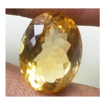 12.01 Carats Natural Yellow Citrine 15.67 x 12.09 x 9.68 mm