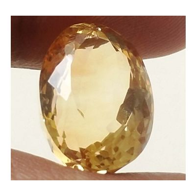 14.03 Carats Natural Yellow Citrine 16.71 x 12.10 x 10.94 mm