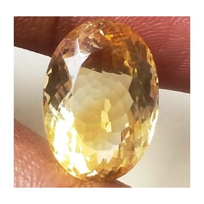 11.55 Carats Natural Yellow Citrine 16.58 x 11.71 x 9.10 mm