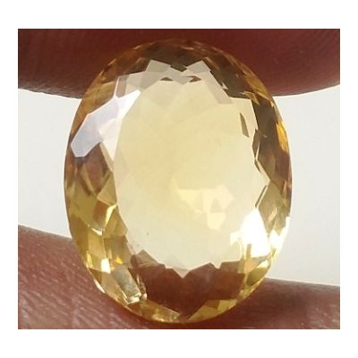 9.98 Carats Natural Yellow Citrine 15.71 x 12.60 x 7.60 mm