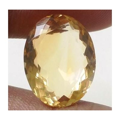 11.15 Carats Natural Yellow Citrine 16.59 x 12.98 x 7.91 mm