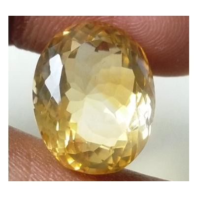 12.65 Carats Natural Yellow Citrine 17.42 x 12.22 x 9.12 mm