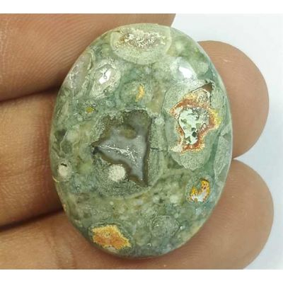 20.80 Carats Rhyolite Rainforest Jasper 37.12 x 22.19 x 7.49 mm