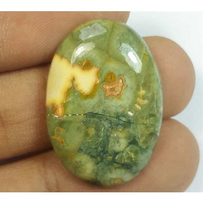 18.11 Carats Rhyolite Rainforest Jasper 28.21 x 19.36 x 5.68 mm