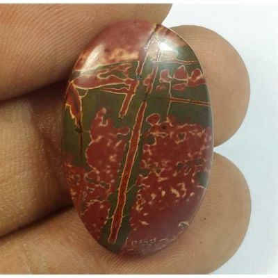 15.95 Carats Cherry Creek Jasper 25.88 x 16.55 x 4.59 mm