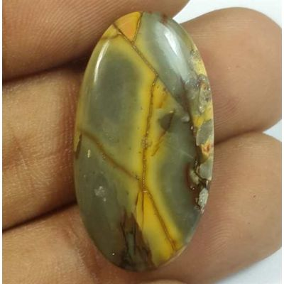 15.26 Carats Cherry Creek Jasper 27.66 x 14.81 x 4.21 mm