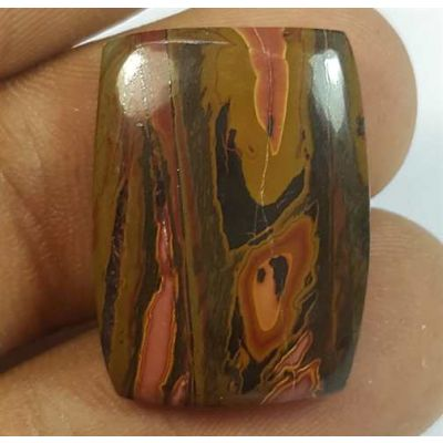 15.37 Carats Cherry Creek Jasper 21.67 x 15.79 x 4.42mm