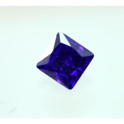 14 Carats Blue Cubic Zircon Square shape 12x12 MM