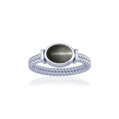 Natural Cats Eye Sterling Silver Ring - K11
