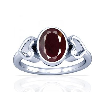Non Heated Natural Mozambique Ruby Sterling Silver Ring - K12