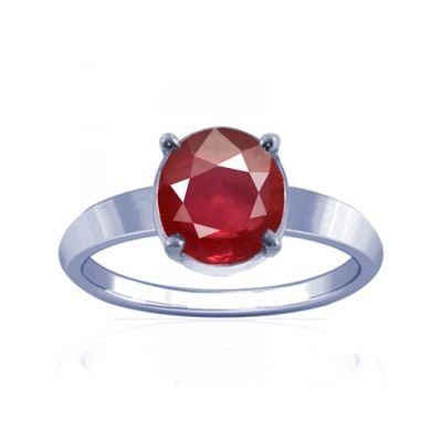 African Ruby Sterling Silver Ring - K14