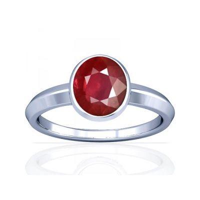 New Burmese Ruby Sterling Silver Ring - K1