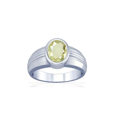 African Yellow Sapphire Sterling Silver Ring - K4